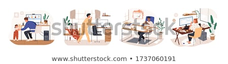 Man overslept by laptop stock photo © nyul