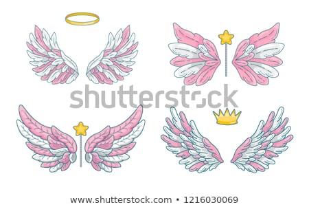 baby girl with angel wings stock photo © nyul