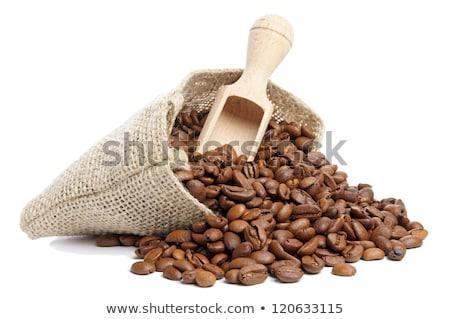 Stock fotó: Atte · Macchiato, · szemes · kávé, · fehér