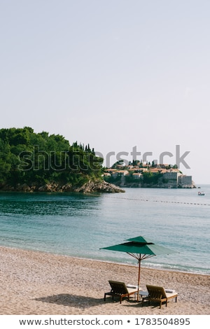 luxe · zand · strand · eiland · resort · Montenegro - stockfoto © sarymsakov