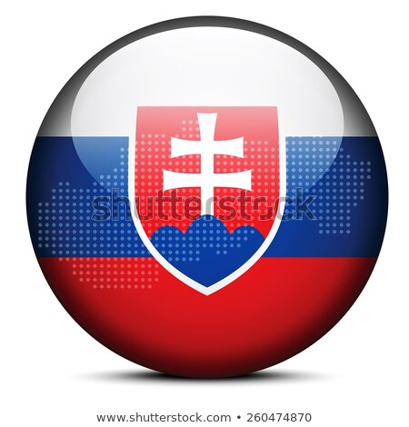 Map with Dot Pattern on flag button of Slovak Republic Stock photo © Istanbul2009