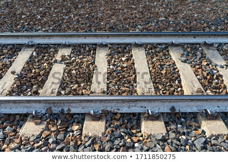 Country road and railway on sunrise Stock photo © mahout