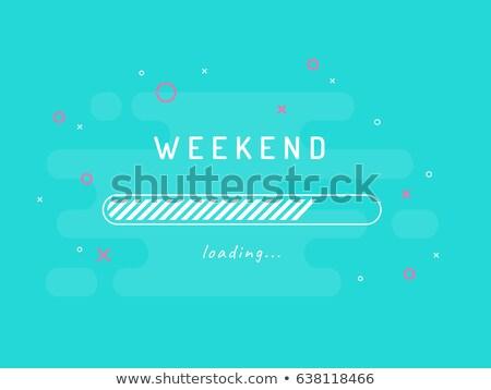 週末 コンテンツ 小さな 人 着用 赤 ストックフォト © stevanovicigor