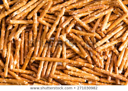 Plenty Salted Baked Pretzel Sticks for Backgrounds Stock photo © ozgur