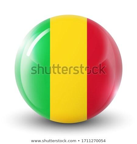 Mali round flag. Vector illustration. Stock photo © tkacchuk