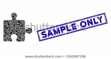 limit   text on blue puzzles stock photo © tashatuvango