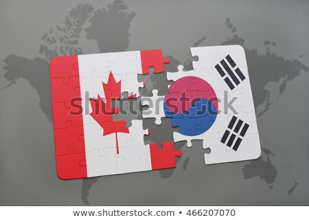 South Korea and Canada Flags in puzzle Stock photo © Istanbul2009