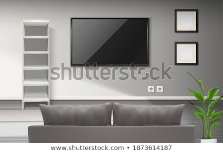 ストックフォト: ソファ · 画像 · フレーム · ベクトル · リビングルーム