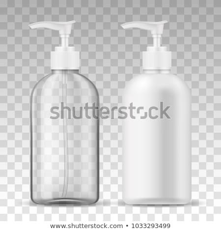Foto d'archivio: Due · bottiglie · liquido · sapone · salute · verde