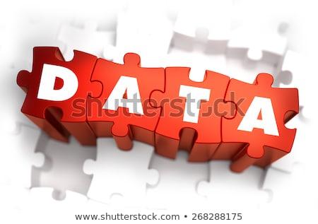 code   white word on red puzzles stock photo © tashatuvango
