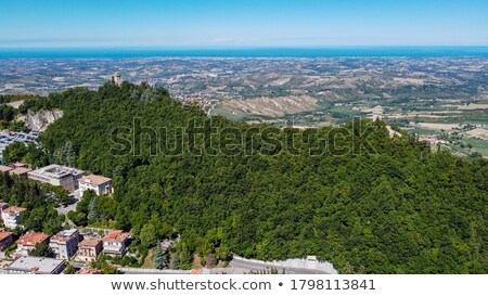 Aerial overview of Tower fortress Stock photo © AndreyKr