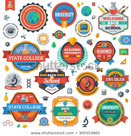 Vector graphic colored icon sticker set of medical supplies and  Stock photo © feabornset