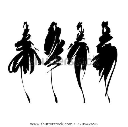 fashion mannequins vector set stock photo © beaubelle