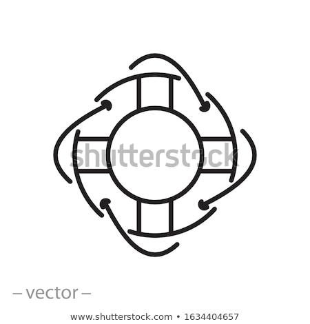 life preserver thin line icon stock photo © rastudio