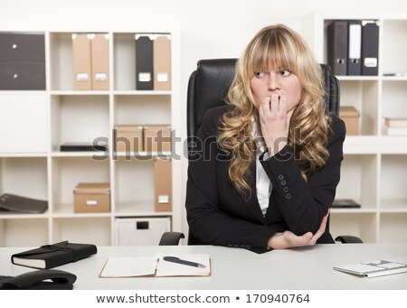 business woman shocked looking side stock photo © fuzzbones0