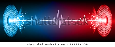 Escuro azul abstrato vermelho corações dia dos namorados Foto stock © boroda