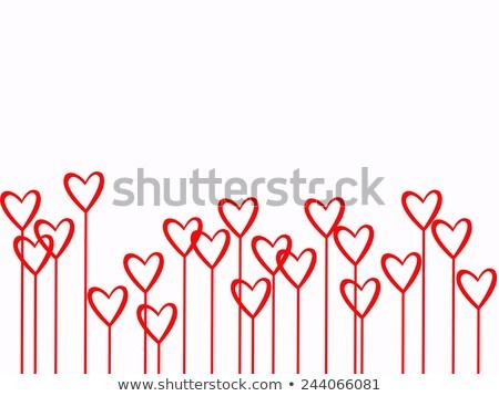 inpakpapier · ontwerp · rode · bloemen · oneindig · textuur - stockfoto © boroda