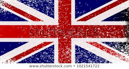 Zászló Egyesült Királyság Skócia konzerv használt kereskedelem Stock fotó © m_pavlov