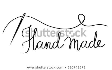 Vingerhoed draad Blauw materiaal achtergrond touw Stockfoto © fuzzbones0