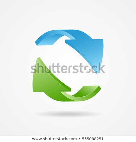 green blue arrows recycling symbol stock photo © blaskorizov
