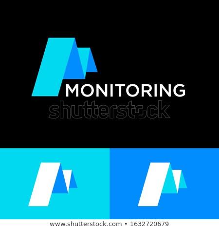 letter m paper bend icon Stock photo © blaskorizov