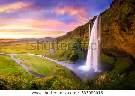 Cachoeiras Islândia natureza paisagem corrida rocha Foto stock © elxeneize