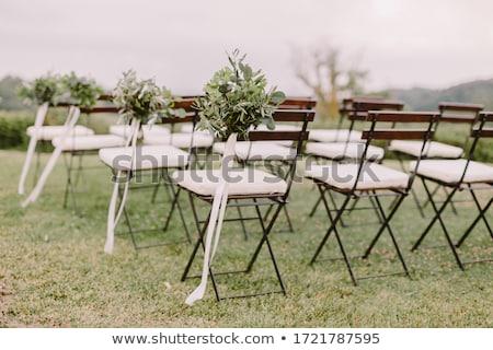 Képzőművészet stílus esküvő fotó mosoly pár Stock fotó © konradbak