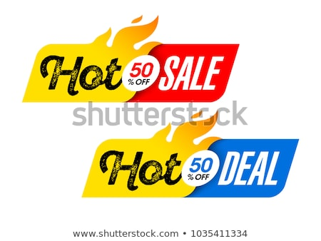Hot Deals Red Vector Icon Design stock photo © rizwanali3d