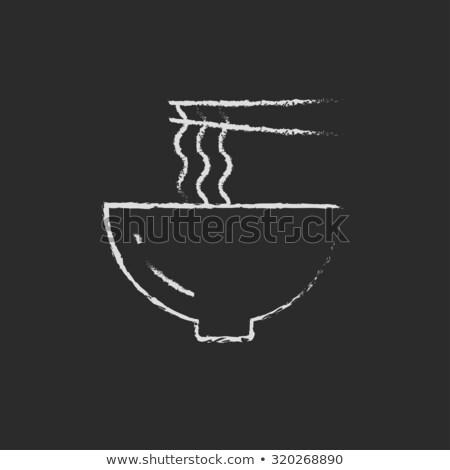 Tazón par palillos icono Foto stock © RAStudio