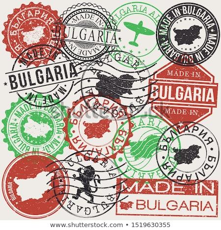 Bulgária vidék zászló térkép forma szöveg Stock fotó © tony4urban