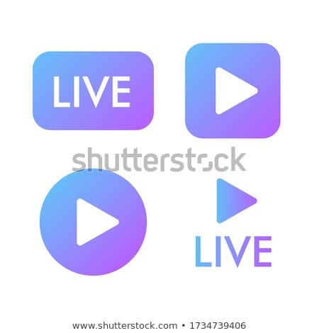 Zoom In Violet Vector Icon Design Stock photo © rizwanali3d