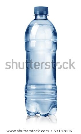 Niebieski butelek wody odizolowany biały grupy Zdjęcia stock © tetkoren