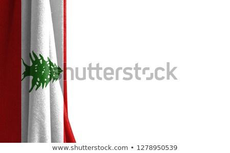 Foto stock: Canadá · Líbano · bandeiras · quebra-cabeça · isolado · branco