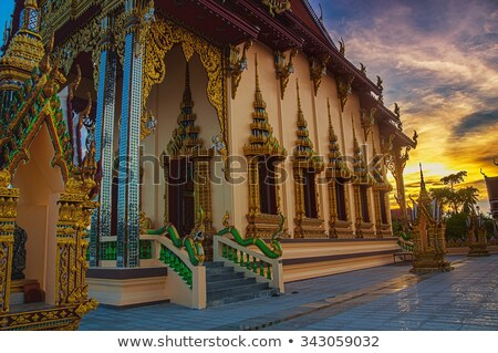 Buddhist pagoda. Temple complex Wat Plai Laem on Samui island Stock photo © master1305