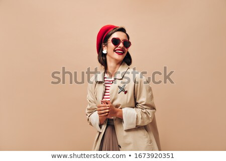 beautiful girl in dress and sunglasses stock photo © svetography