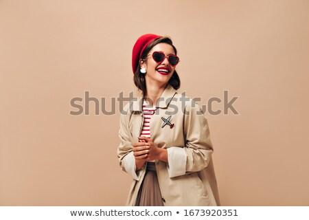 Beautiful girl vestir óculos de sol belo mulher jovem escuro Foto stock © svetography