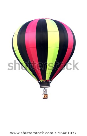 Stock photo: Stripy hot air balloon