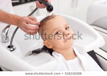 mannelijke · kapper · stilist · man · haardroger · lucht - stockfoto © deandrobot