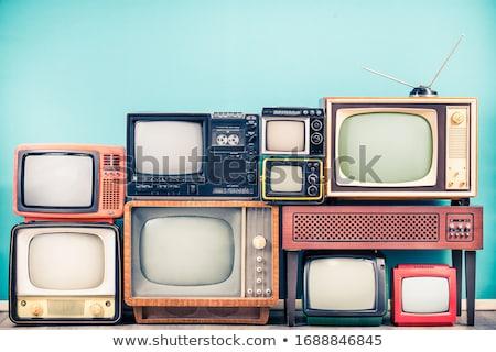 Сток-фото: старые · телевидение · набор · домой · автомобилей · фон