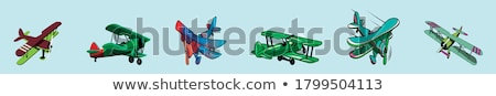 Biplane, illustration Stock photo © Morphart