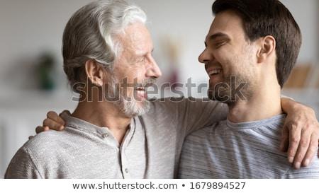 отец два смеясь дети молодые Сток-фото © ozgur