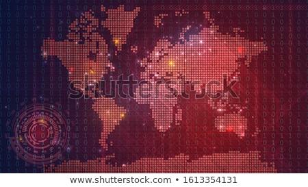 globale · catastrofe · symbolisch · frame · gebarsten · vallen - stockfoto © cosma