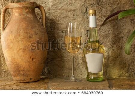 Vinho argila parede velho abstrato fundo Foto stock © Givaga