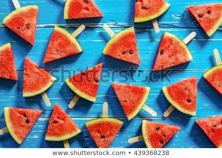 Watermeloen dessert klaar voorjaar model Rood Stockfoto © wime