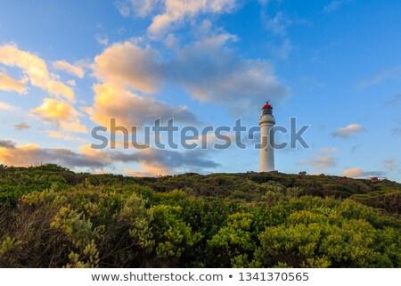 Nokta deniz feneri muhteşem okyanus yol manzara Stok fotoğraf © dirkr