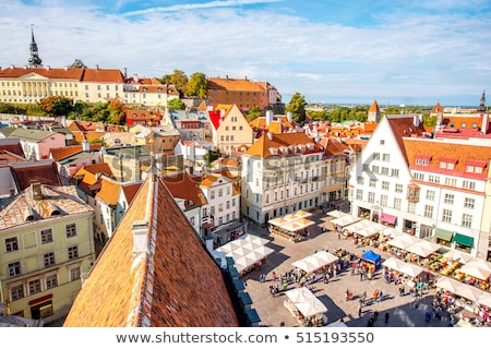 scenic summer view of the old town in tallinn stock photo © meinzahn