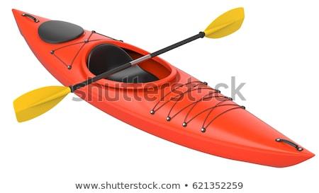 crossover whitewater kayak isolated Stock photo © PixelsAway