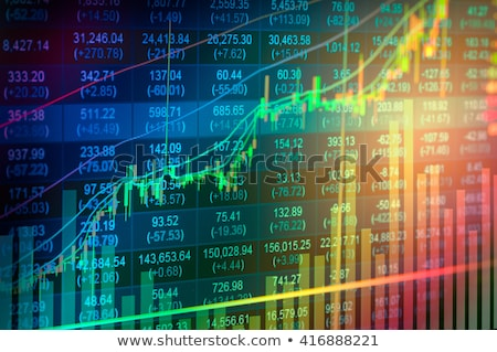 beurs · trend · business · geld · financieren · grafiek - stockfoto © lightsource