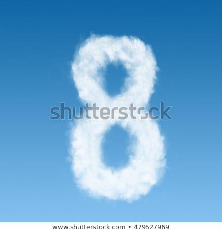 Wolken vorm cijfer acht blauwe hemel voorjaar Stockfoto © prg0383