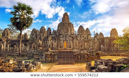 Bayon Temple at sunset in Cambodia Stock photo © Mikko